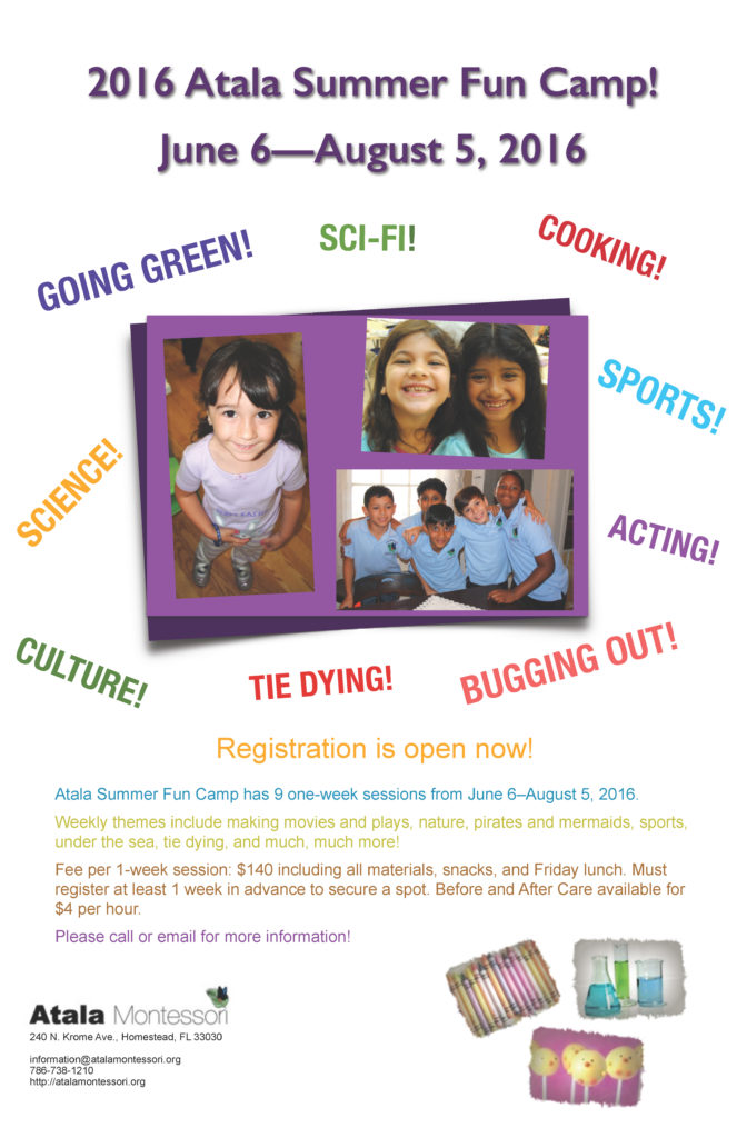 2016 Summer Camp poster